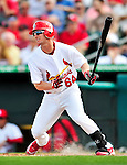 10 March 2010: St. Louis Cardinals' outfielder Shane Robinson in action during a Spring Training game against the Washington Nationals at Roger Dean Stadium in Jupiter, Florida. The Cardinals defeated the Nationals 6-4 in Grapefruit League action. Mandatory Credit: Ed Wolfstein Photo
