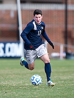 Tom Skelly (17) of Georgetown brings the ball upfield during the second round of the NCAA tournament at Shaw Field in Washington, DC. Georgeotown defeated Old Dominion, 3-0.