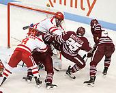 Ryan Cloonan (BU - 8), Ryan Badger (UMass - 21), Doyle Somerby (BU - 27), Luke McElhenie (UMass - 25), Joseph Widmar (UMass - 26) - The Boston University Terriers defeated the University of Massachusetts Minutemen 3-1 on Friday, February 3, 2017, at Agganis Arena in Boston, Massachusetts.The Boston University Terriers defeated the visiting University of Massachusetts Amherst Minutemen 3-1 on Friday, February 3, 2017, at Agganis Arena in Boston, MA.