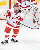 Catherine Ward (BU - 17) - The Northeastern University Huskies tied Boston University Terriers 3-3 in the 2011 Beanpot consolation game on Tuesday, February 15, 2011, at Conte Forum in Chestnut Hill, Massachusetts.