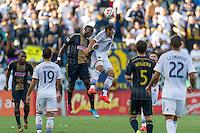 CARSON, CA - May 25, 2014: Los Angeles Galaxy midfielder Landon Donovan (10) during the LA Galaxy vs Philadelphia Union match at the StubHub Center in Carson, California. Final score, LA Galaxy 0, Philadelphia Union  1.