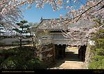 Okayama Castle Akazunomon gate that never opens Yaguramon Okayama Japan