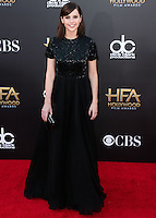 HOLLYWOOD, LOS ANGELES, CA, USA - NOVEMBER 14: Felicity Jones arrives at the 18th Annual Hollywood Film Awards held at the Hollywood Palladium on November 14, 2014 in Hollywood, Los Angeles, California, United States. (Photo by Xavier Collin/Celebrity Monitor)
