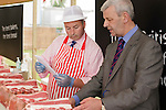 Royal Highland Show 2012 Paul Barker of Morrisons and judge Murray Hardy of Scotbeef look through the rib roast at the Highland Show