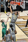 03 APR 2012: Brittney Griner (42) of Baylor University goes up for a shot against Natalie Novosel (21) of the University of Notre Dame during the Division I Women's Basketball Championship held at the Pepsi Center in Denver, CO. Matt Marriott/NCAA Photos