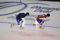 SPEEDSKATING: CALGARY: 12-11-2015, Olympic Oval, training, skaters Columbia, ©foto Martin de Jong