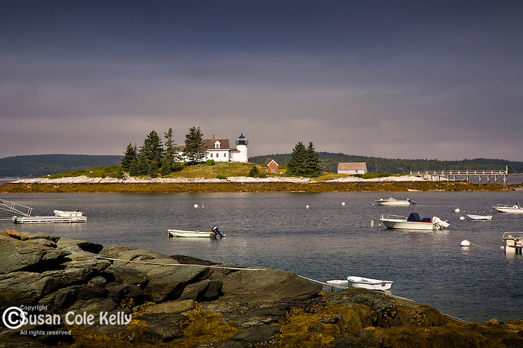 Pumpkin Island Light in Eggemoggin Reach, Deer Isle, ME, USA