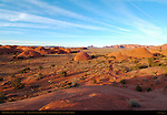 Petrified Dunes at Sunset, Mystery Valley, Monument Valley Navajo Tribal Park, Navajo Nation Reservation, Utah/Arizona Border
