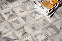 Newman, a stone waterjet mosaic shown in Horizon honed, is part of the Parquet Line by Sara Baldwin for New Ravenna Mosaics.
