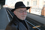 belgian author Jef Geeraert at Gent railway station in Belgium.