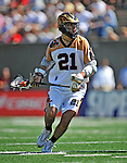 23 August 2008: Rochester Rattlers' Midfielder Brett Bucktooth in action against the Philadelphia Barrage during the Semi-Finals of the Major League Lacrosse Championship Weekend at Harvard Stadium in Boston, MA. The Rattlers defeated the Barrage 16-15 in sudden death overtime, advancing to the upcoming Championship Game...Mandatory Photo Credit: Ed Wolfstein Photo