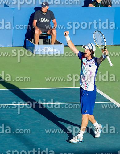 Blaz Kavcic of Slovenia during Quarterfinals during Day 5 of ATP Challenger Tilia Slovenia Open 2014 on July 11, 2014 in Tennis stadium SRC Marina, Portoroz / Portorose, Slovenia. Photo by Vid Ponikvar / Sportida