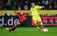 FUSSBALL   1. BUNDESLIGA   SAISON 2012/2013    20. SPIELTAG Bayer 04 Leverkusen - Borussia Dortmund                  03.02.2013 Oemer Toprak (li, Bayer 04 Leverkusen) gegen Mario Goetze (re, Borussia Dortmund)