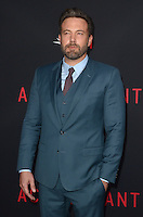 HOLLYWOOD, CA - OCTOBER 10: Ben Affleck at The Accountant World Premiere at the Chinese Theater in Hollywood, California on October 10, 2016. Credit: David Edwards/MediaPunch