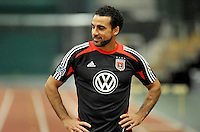 D.C. United midfielder Dwayne De Rosario  during the pre-season fitness training session at George Manson University before departing for Bradenton Florida to get ready for the 2013 season, Friday January 18, 2013.