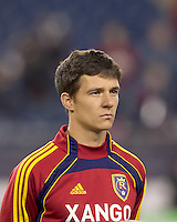 Real Salt Lake midfielder Will Johnson (8). In a Major League Soccer (MLS) match, Real Salt Lake defeated the New England Revolution, 2-0, at Gillette Stadium on April 9, 2011.