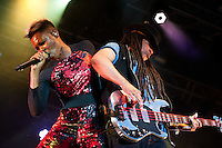 Skin (left) und Cass from Skunk Anansie live at Stimmen music festival in Lörrach, Germany, July 18, 2013. Photo: Miroslav Dakov