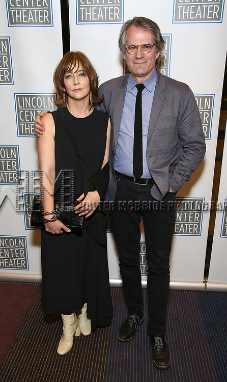 Kristin Flanders and Bartlett Sher attend the Opening Night Performance press reception for the Lincoln Center Theater production of 'Oslo' at the Vivian Beaumont Theater on April 13, 2017 in New York City.