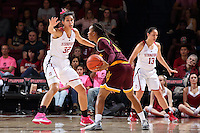 STANFORD, CA - February 14, 2016: Stanford Cardinal vs Arizona State Sun Devils at Maples Pavilion.  Arizona won in overtime 63-61.