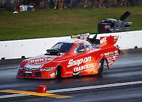 Jun 4, 2016; Epping , NH, USA; NHRA funny car driver Criz Pedregon during qualifying for the New England Nationals at New England Dragway. Mandatory Credit: Mark J. Rebilas-USA TODAY Sports