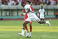 Ghana's Andre Ayew (10) makes a failed goal attempt against South Korea during the FIFA Under 20 World Cup Quarter-final match between Ghana and South Korea at the Mubarak Stadium  in Suez, Egypt, on October 09, 2009.