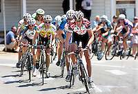 Allan Johansen of Team CSC leads a break through Dawsonville, Ga. during Stage 6 of the Ford Tour de Georgia.<br />