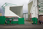 Hibernian 3 Alloa Athletic 0, 12/09/2015. Easter Road stadium, Scottish Championship. Fans making their way towards the ground at Easter Road stadium before the Scottish Championship match between Hibernian and visitors Alloa Athletic. The home team won the game by 3-0, watched by a crowd of 7,774. It was the Edinburgh club's second season in the second tier of Scottish football following their relegation from the Premiership in 2013-14. Photo by Colin McPherson.
