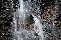 Greece, Pindos Mountains, Pindos NP, Valia Calda, Small waterfall in Valia Calda