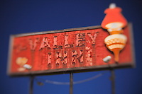 Valley Inn Sign - Kingsburg, CA - Highway 99 - Lensbaby
