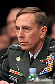 Washington, DC - April 8, 2008 -- General David Petraeus testifies before the United States Senate Armed Services Committee on the situation and progress in Iraq in Washington, D.C. on Tuesday, April 8, 2008..Credit: Ron Sachs / CNP