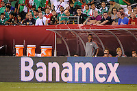 The men's national teams of the United States (USA) and Mexico (MEX) played to a 1-1 tie during an international friendly at Lincoln Financial Field in Philadelphia, PA, on August 10, 2011.