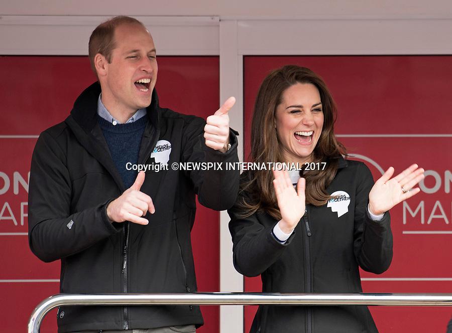 Kate Middleton, Prince William & Harry Start Marathon