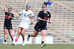 20 February 2016: Florida's Caroline Fitzgerald (11). The University of North Carolina Tar Heels hosted the University of Florida Gators in a 2016 NCAA Division I Women's Lacrosse match. Florida won the game 16-15.