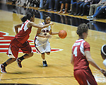Ole Miss' Valencia McFarland (3) vs. Arkansas in a women's college basketball game in Oxford, Miss. on Thursday, January 31, 2013. Arkansas won 77-66.