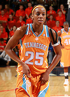 CHARLOTTESVILLE, VA- NOVEMBER 20: Glory Johnson #25 of the Tennessee Lady Volunteers prepares to shoot a free throw during the game on November 20, 2011 against the Virginia Cavaliers at the John Paul Jones Arena in Charlottesville, Virginia. Virginia defeated Tennessee in overtime 69-64. (Photo by Andrew Shurtleff/Getty Images) *** Local Caption *** Glory Johnson
