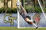 7 November 2007: Virginia goalkeeper Chantel Jones makes a save during the penalty kick shootout. The University of Virginia tied the University of Miami 0-0 at the Disney Wide World of Sports complex in Orlando, FL in an Atlantic Coast Conference tournament quarterfinal match.  Virginia advanced to the semifinals on penalty kicks, 4-2.