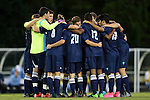06 October 2015: UNC Wilmington's starters huddle before the game. The University of North Carolina Tar Heels hosted the University of North Carolina Wilmington Seahawks at Fetzer Field in Chapel Hill, NC in a 2015 NCAA Division I Men's Soccer match. North Carolina won the game 3-0.