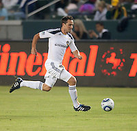 CARSON, CA – SEPTEMBER 18:  LA Galaxy defender Todd Dunivant (2) during a soccer match at Home Depot Center, September 18, 2010 in Carson California. Final score LA Galaxy 2, DC United 1.
