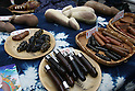 Apr 04, 2010 - Kawasaki, Japan - Diverse products in the shape of phallus are on display for sale at the Kanamara Matsuri (Festival of the Steel Phallus) held in Wakamiya Hachimangu Shrine on April 4, 2010 in Kawasaki, Japan. The annual feritility festival, held traditionally the first Sunday in April, is said to encourage fertility and bring harmony to married couples. The festival has also become somewhat of a tourist attraction and is used to raise money for HIV research and awareness of AIDS prevention.