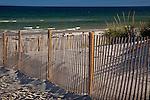 White sand and deep green ocean at Mayflower Beach in Dennis, Cape Cod, MA, USA