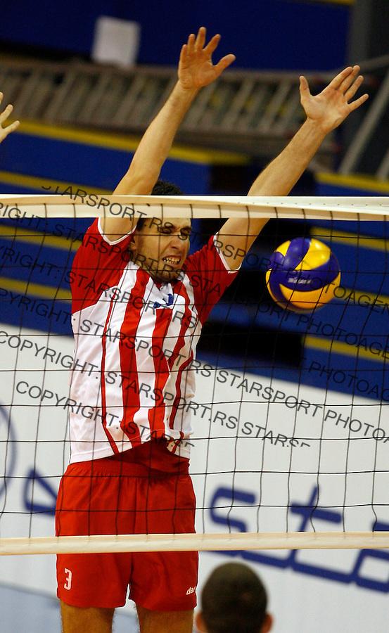 Nemanja Jakovljevic Sport Odbojka Volleyball Wiener Stadtische Superliga Crvena Zvezda Radnicki Kragujevac 8.10.2009. credit image photo: copyright © Pedja Milosavljevic ®  +381641260959 / thepedja@gmail.com / STARSPORT
