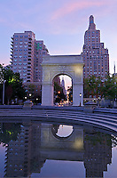 Washington Square Park, Washington Square Arch, designed by McKim Mead &amp; White,  Manhattan, New York City, New York, USA