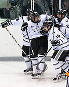Kyle Murphy (PC - 16), Steven Shamanski (PC - 28), Derek Army (PC - 19), Brandon Tanev (PC - 22) - The Providence College Friars tied the visiting Boston College Eagles 3-3 on Friday, December 7, 2012, at Schneider Arena in Providence, Rhode Island.