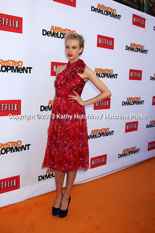 """LOS ANGELES - APR 29:  Penelope Mitchell arrives at the """"Arrested Development"""" Los Angeles Premiere at the Chinese Theater on April 29, 2013 in Los Angeles, CA"""