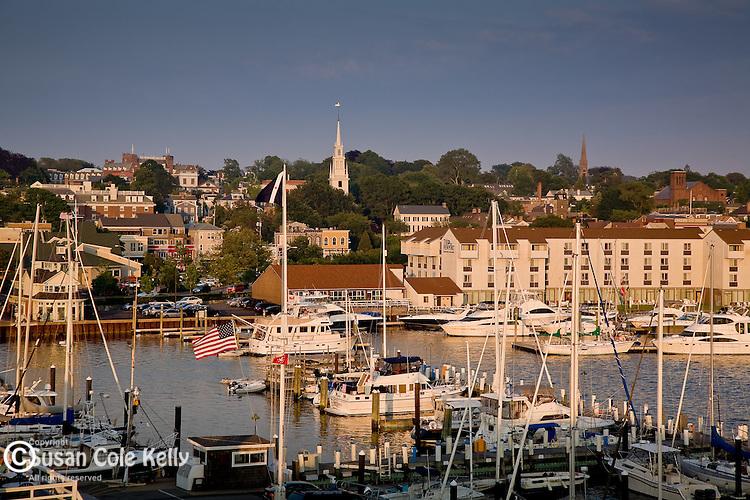 Newport waterfront, Newport, Narragansett Bay, RI, USA