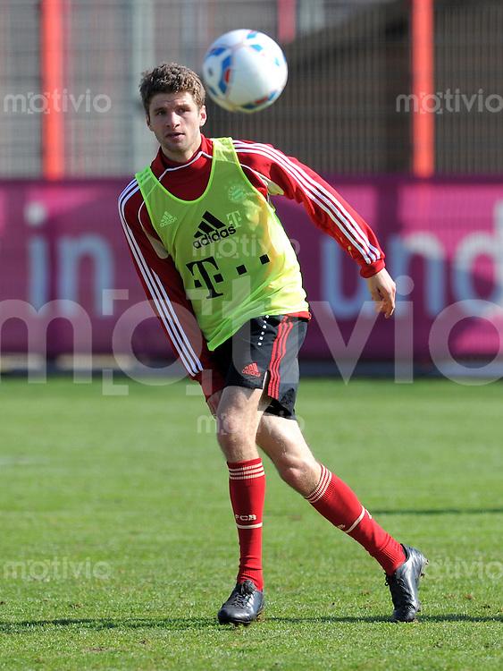Fussball 1. Bundesliga:  Saison   2011/2012    Training beim FCB 07.03.2012 Thomas Mueller (FC Bayern Muenchen)
