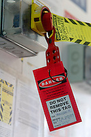 Safety shut off tag. <br />