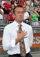 29 June 2013: Real Salt Lake head coach Jason Kreis<br /> during the opening ceremonies in an MLS game between Real Salt Lake and Toronto FC at BMO Field in Toronto, Ontario Canada.<br /> Real Salt Lake won 1-0.