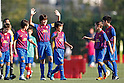 Barcelona Alevines C team group, OCTOBER 22, 2011 - Football / Soccer : Takefusa Kubo (3R) of Barcelona Alevines C celebrate during the FC Barcelona Alevines C match at La Ciutat Esportiva Joan Gamper in Sant Joan Despi, Barcelona, Spain. (Photo by D.Nakashima/AFLO) [2336]