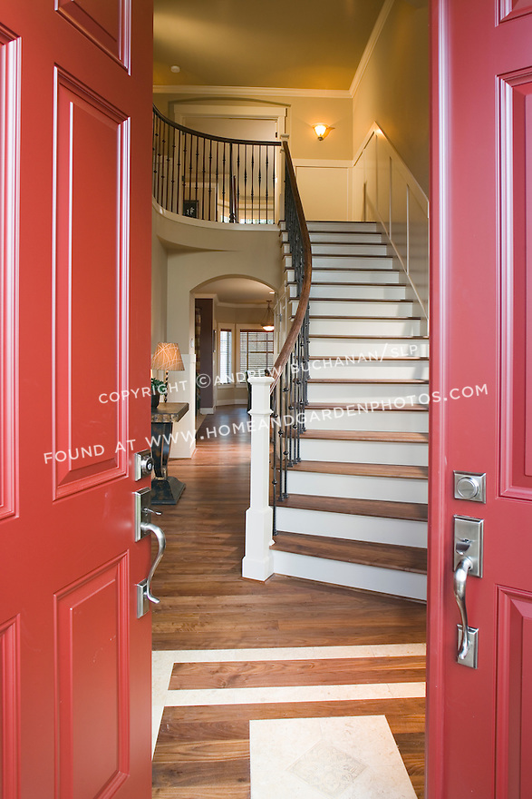 Entrance Foyer Circulation And Balcony In A House : Df front door entry photo g homeandgardenphotos